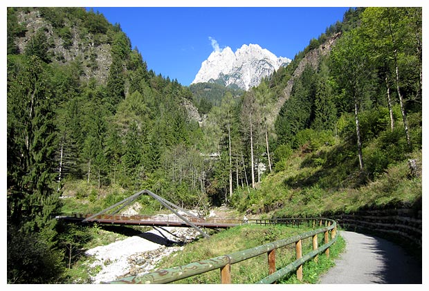 Veneto in bici cadore lunga via delle dolomiti da for Garage con ponte in cima